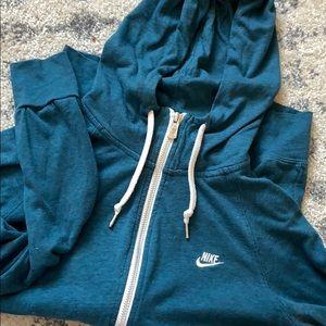 Teal Nike Full Zip Hoodie